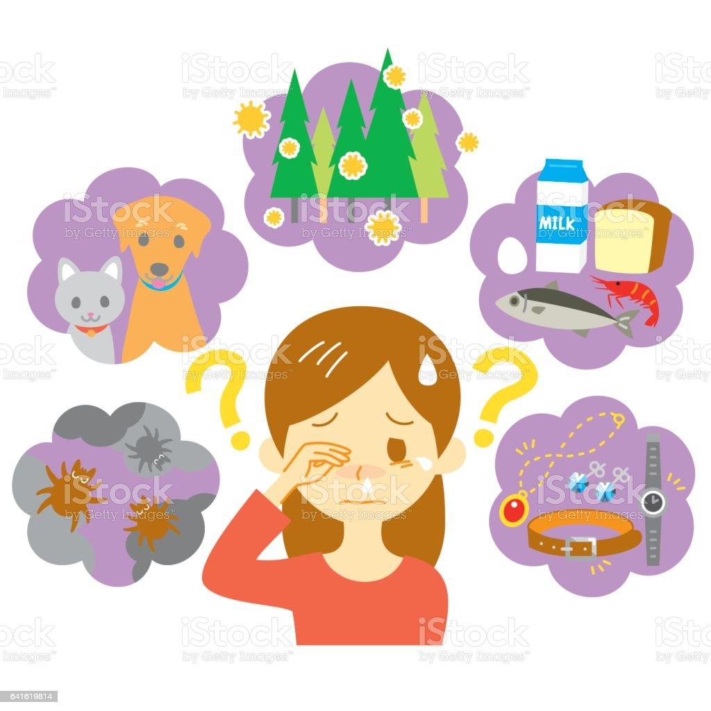 アレルギーの原因 vector art illustration