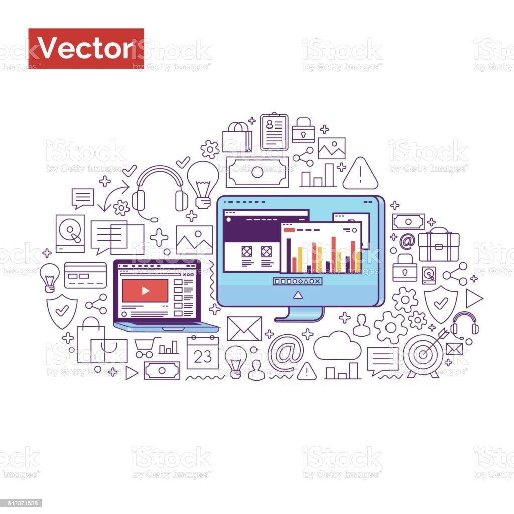 02.02.2016 vector art illustration