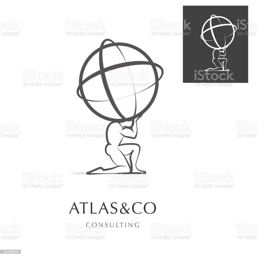ATLAS , CORPORATE VECOTR ICON vector art illustration