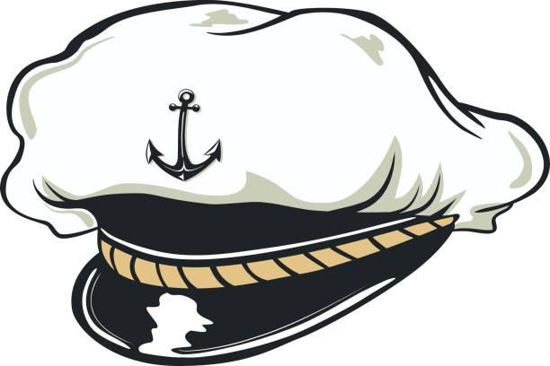 capitan cap - matrosenmütze stock-grafiken, -clipart, -cartoons und -symbole