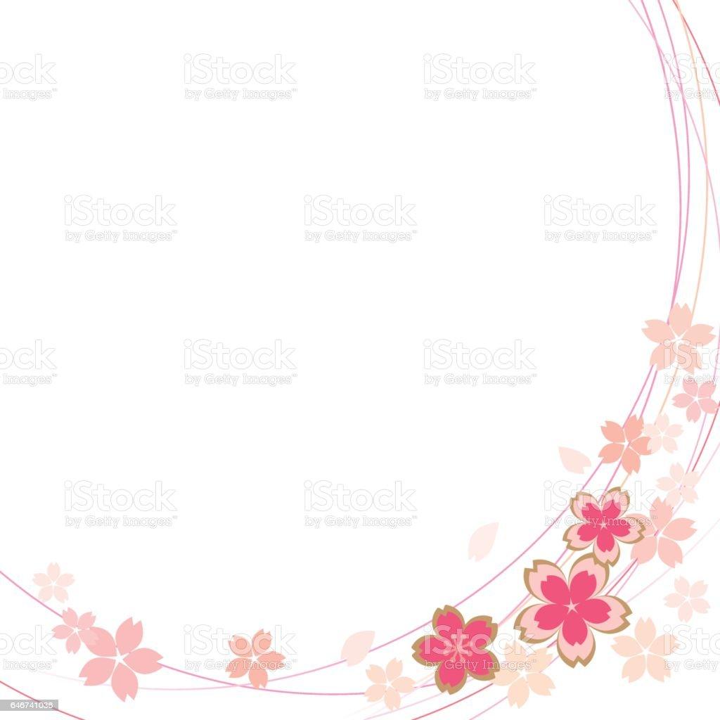 桜 フレーム のイラスト素材 646741036 | istock