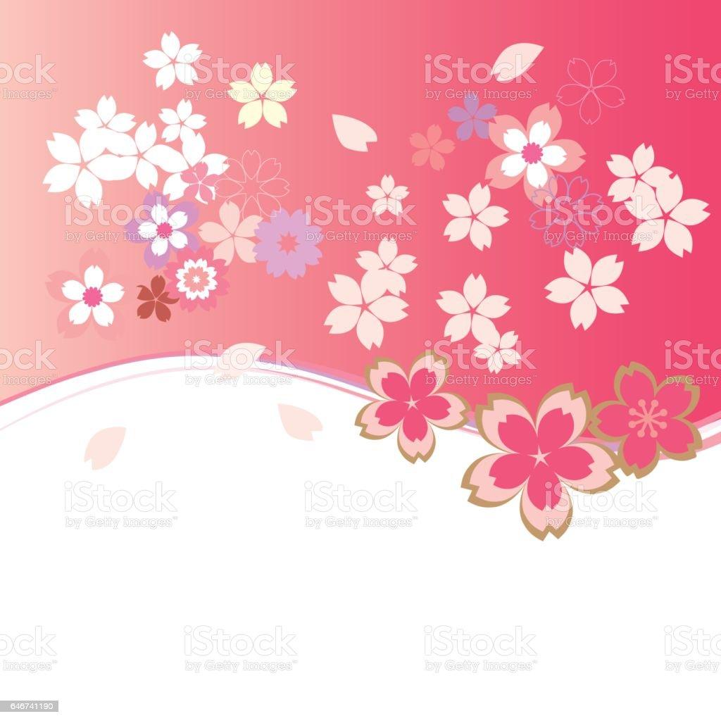 桜 フレーム のイラスト素材 646741190 | istock