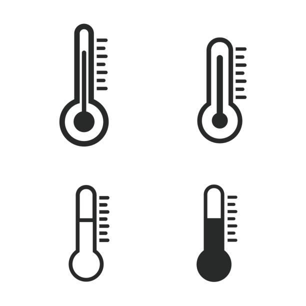 stockillustraties, clipart, cartoons en iconen met 52-02 - thermometer