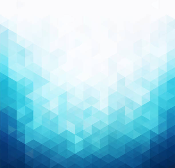 0000000 Abstract blue light template background. Triangles mosaic hill stock illustrations