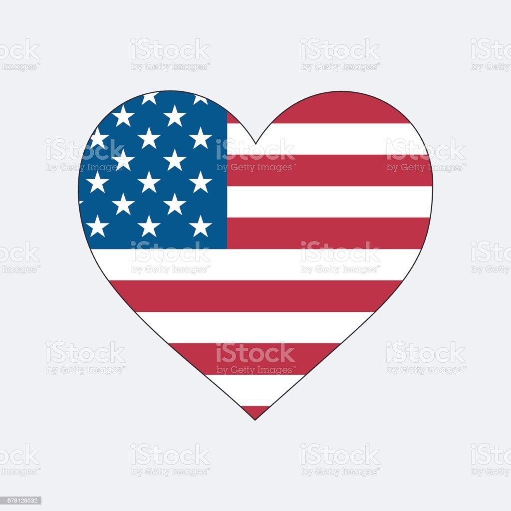 AMERICAN HEART vector art illustration