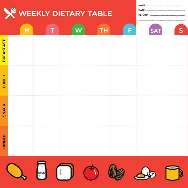 royalty free food diary clip art vector images illustrations istock