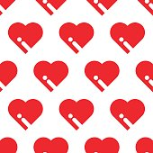 SEAMLESS BIG RED HEART