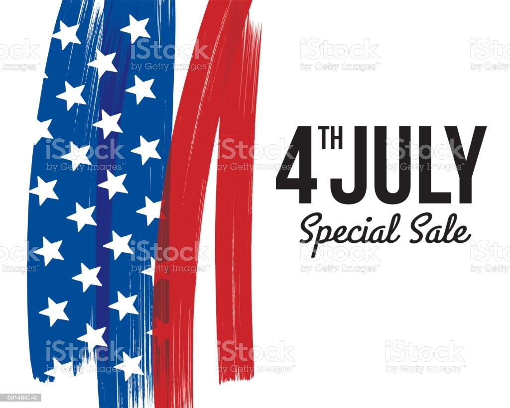 INDEPENDENCE DAY SALE CARD vector art illustration