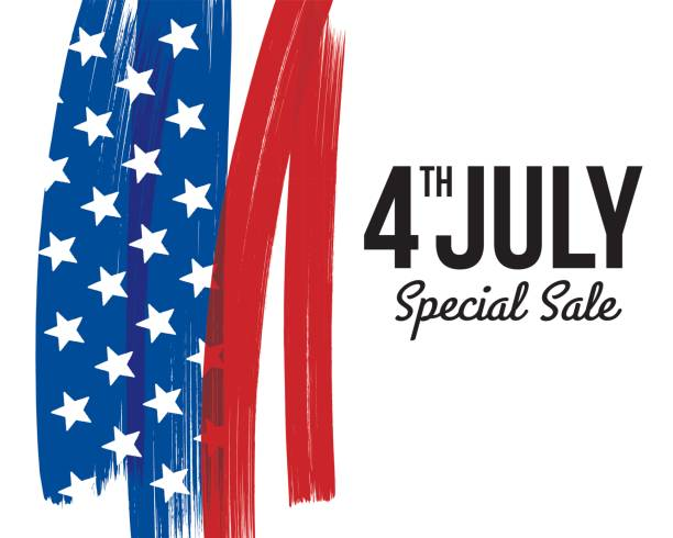 INDEPENDENCE DAY SALE CARD INDEPENDENCE DAY SALE CARD independence day illustrations stock illustrations
