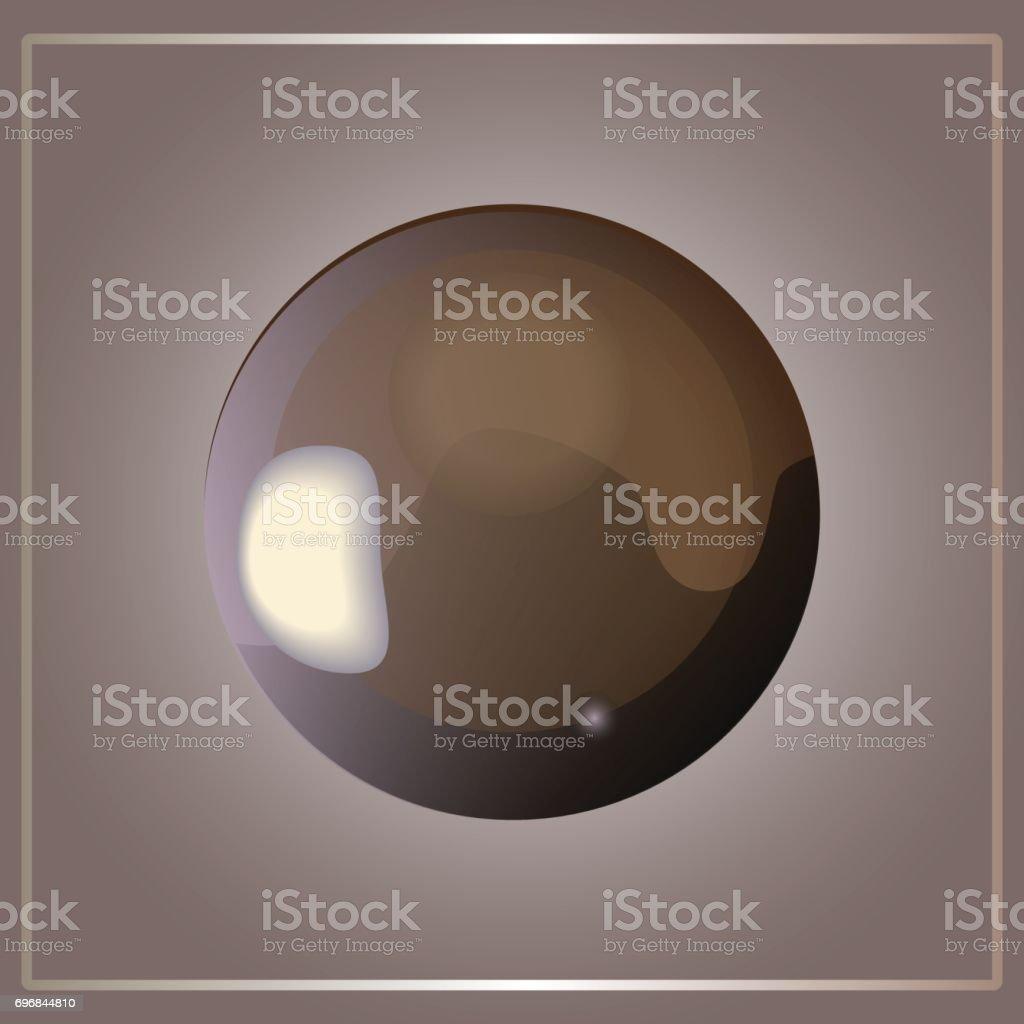 жемчуг vector art illustration