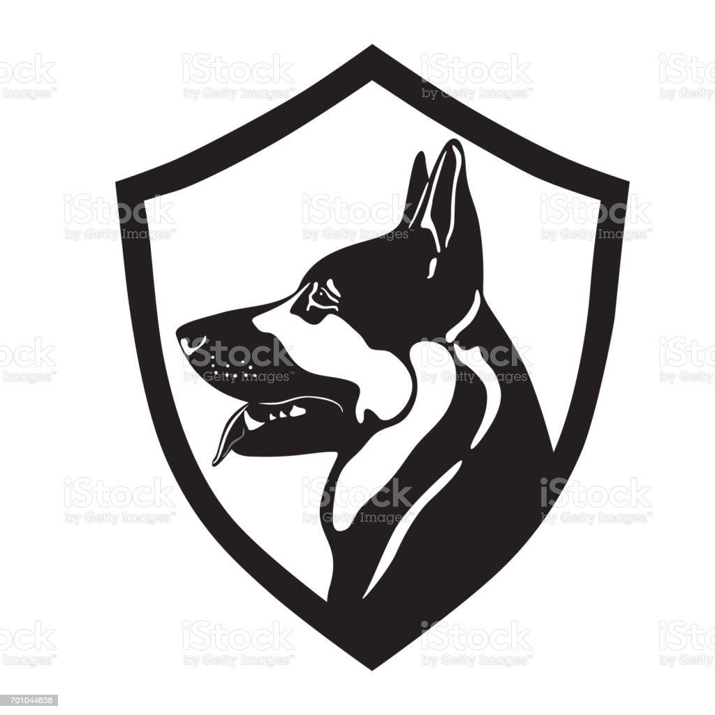 собака овчарка vector art illustration