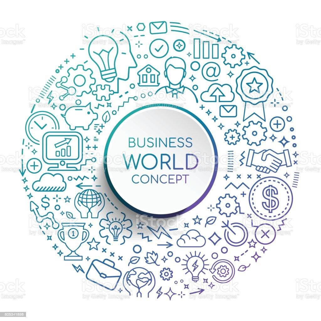 BUSINESS WORLD CONCEPT vector art illustration