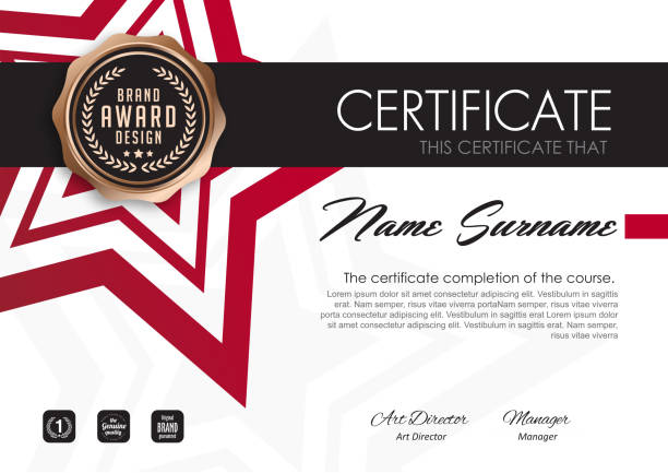 certificate 418 - certificate and awards frames stock illustrations, clip art, cartoons, & icons