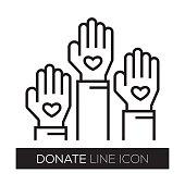 DONATE LINE ICON