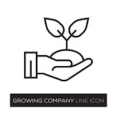 GROWING COMPANY LINE ICON