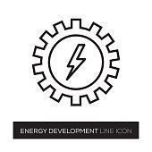 ENERGY DEVELOPMENT LINE ICON