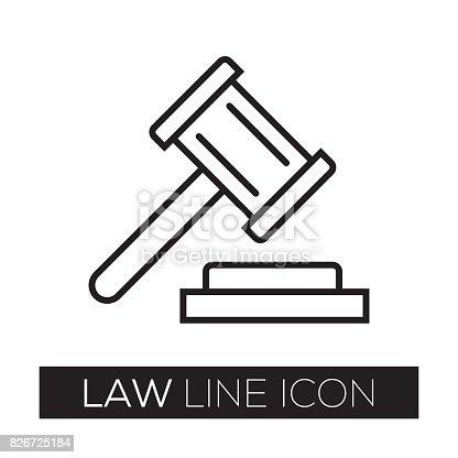 LAW LINE ICON