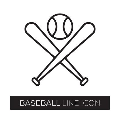 BASEBALL LINE ICON