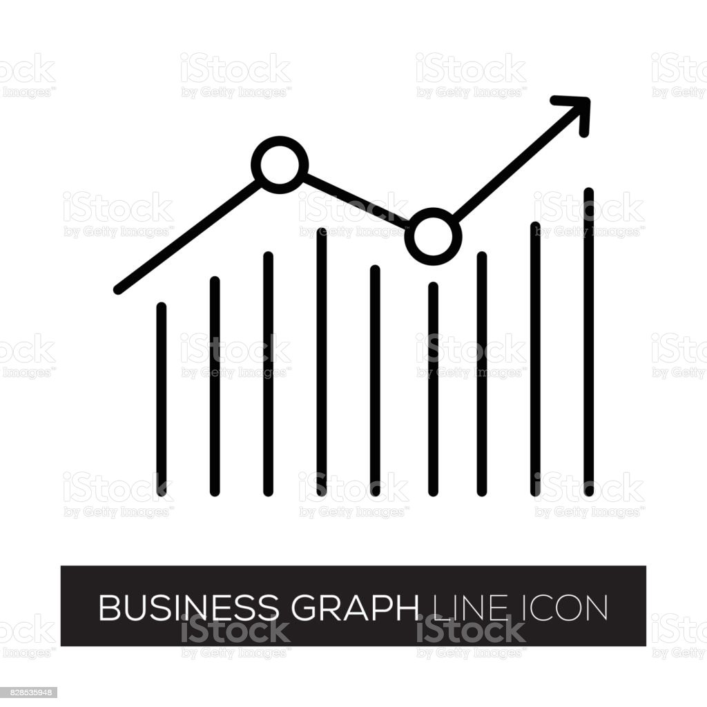 BUSINESS GRAFIK LINIENSYMBOL – Vektorgrafik