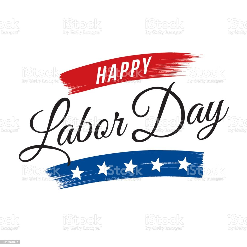LABOR DAY GREETING vector art illustration
