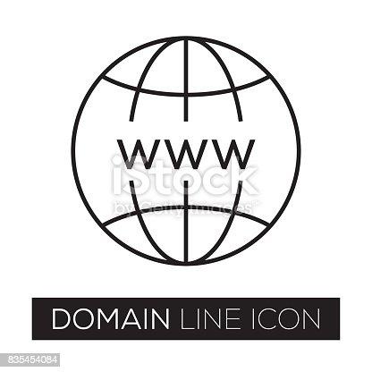 istock DOMAIN LINE ICON 835454084