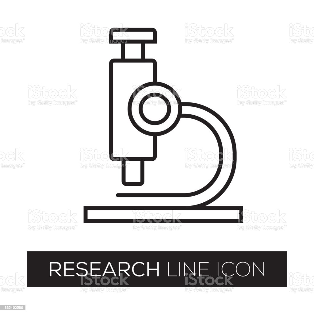 RESEARCH LINE ICON vector art illustration