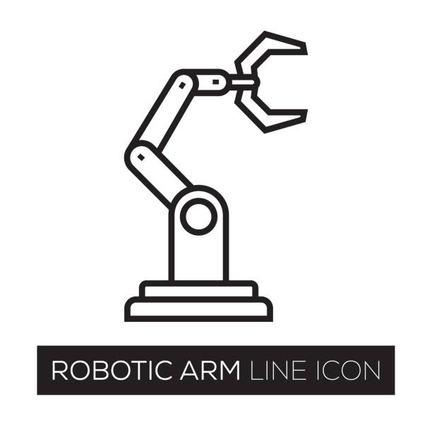 ROBOTIC LINE ICON vector art illustration