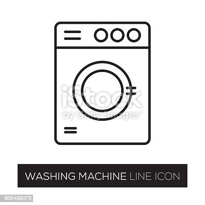 istock WASHING MACHINE LINE ICON 835466076