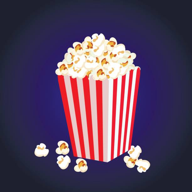 stockillustraties, clipart, cartoons en iconen met основные rgb - popcorn