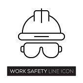 istock WORK SAFETY LINE ICON 836642922