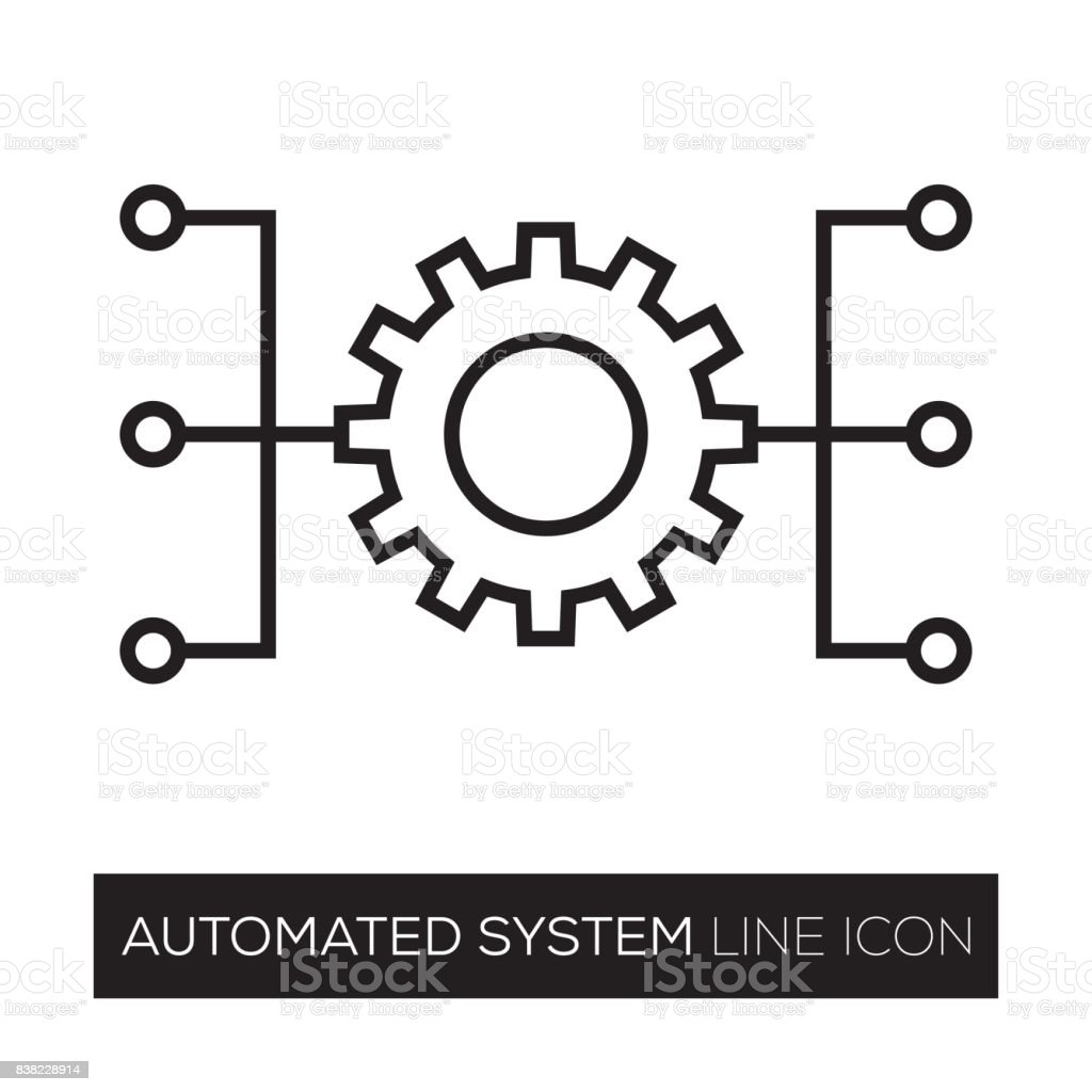 AUTOMATED SYSTEM vector art illustration