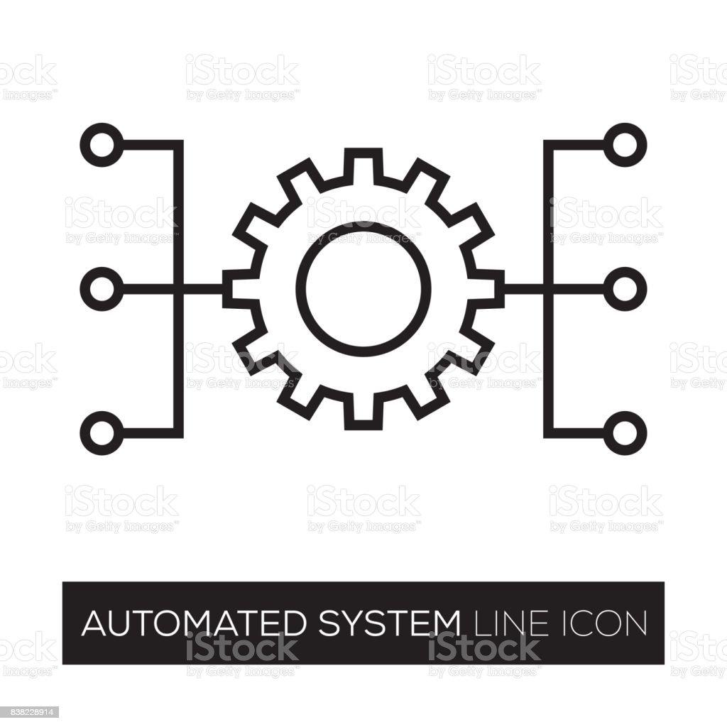 AUTOMATISIERTES SYSTEM – Vektorgrafik