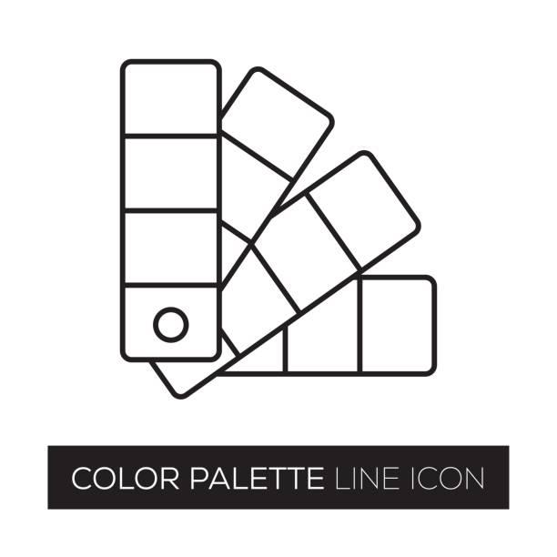 ilustrações, clipart, desenhos animados e ícones de paleta de cores - amostra de cor