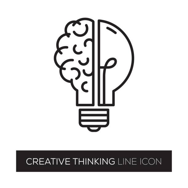 creative thinking - twórczy zawód stock illustrations