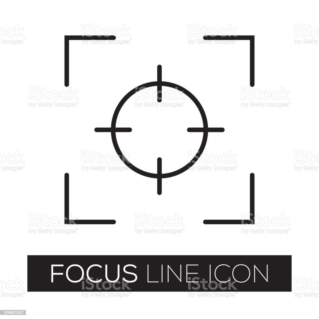 FOCUS vector art illustration