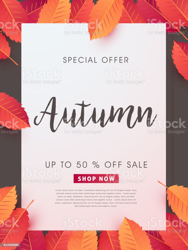 AUTUMN 52 vector art illustration