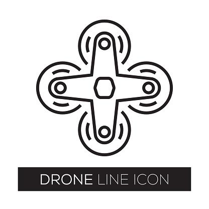 DRONE LINE ICON