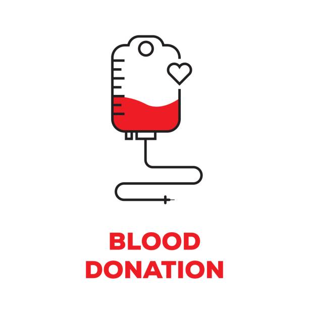 BLOOD DONATION CONCEPT vector art illustration