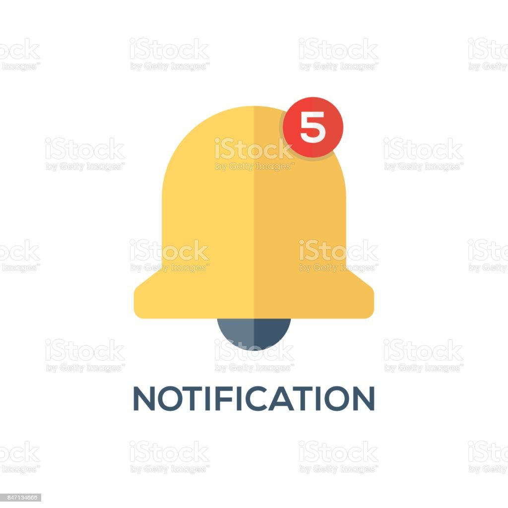 NOTIFICATION CONCEPT ICON vector art illustration