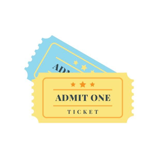 티켓 아이콘 - 티켓 스텁 stock illustrations