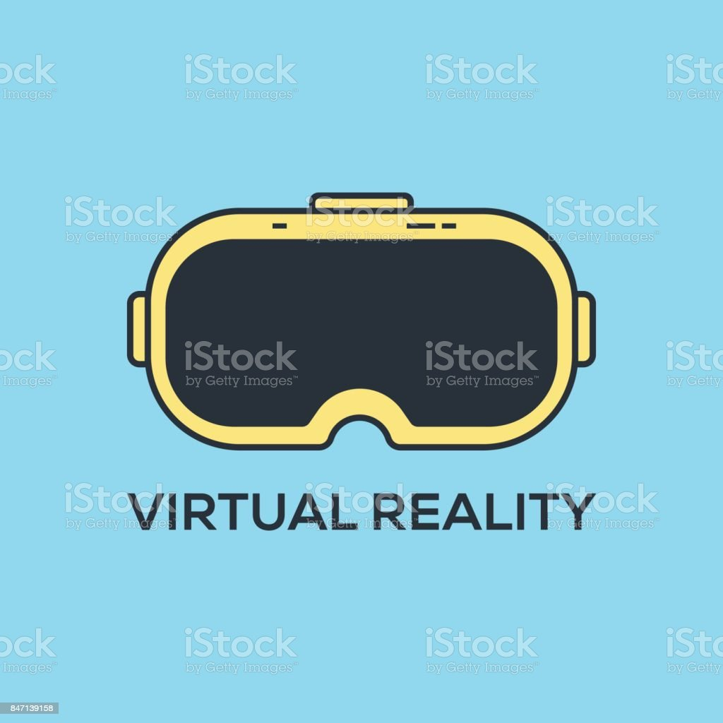 VIRTUAL REALITY CONCEPT vector art illustration