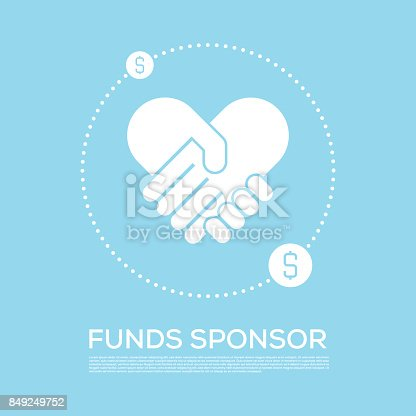 istock FUNDS SPONSOR CONCEPT VECTOR ICON 849249752