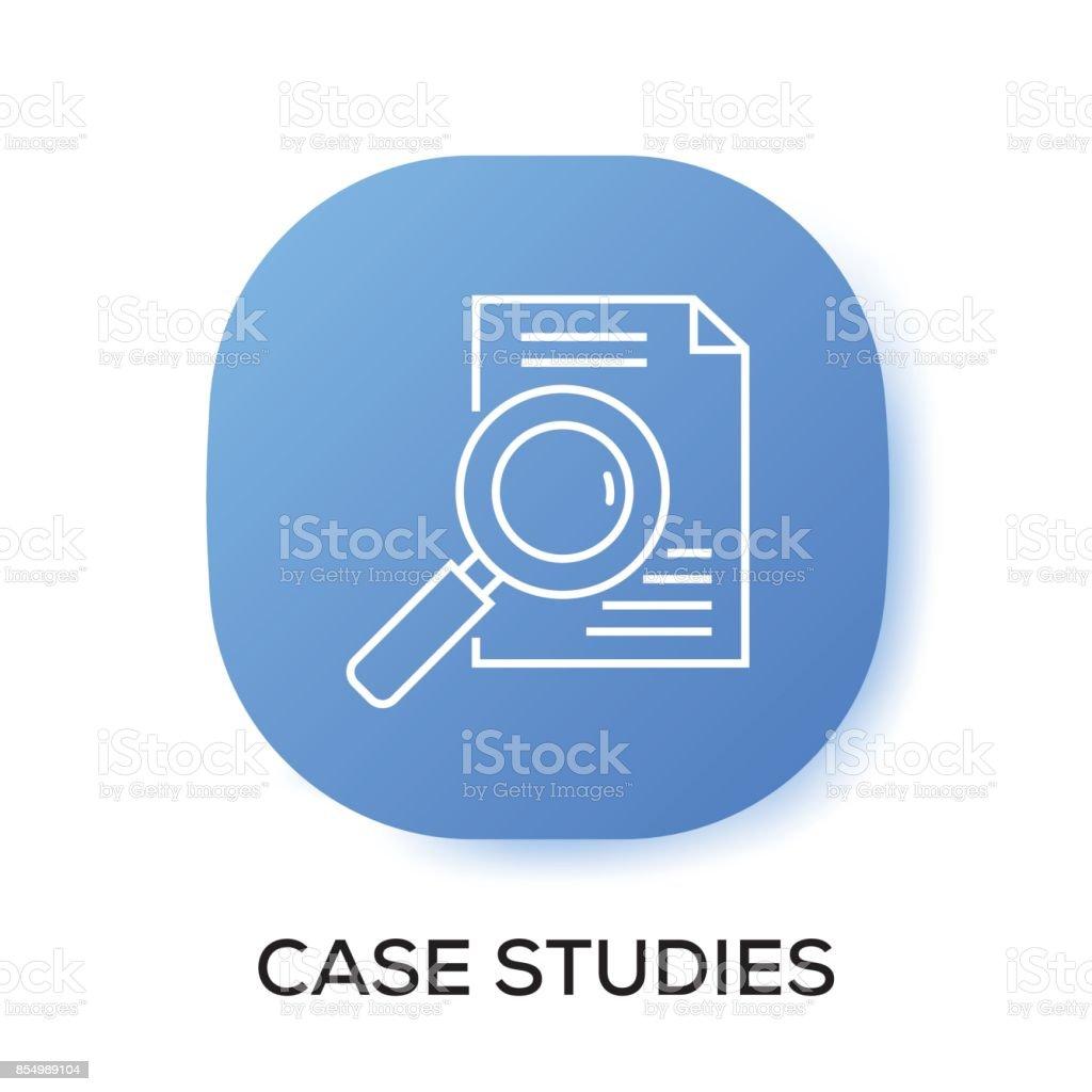 CASE STUDIES APP ICON vector art illustration