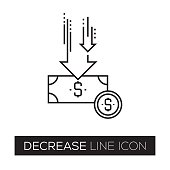 DECREASE LINE ICON