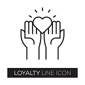 istock LOYALTY LINE ICON 855053214
