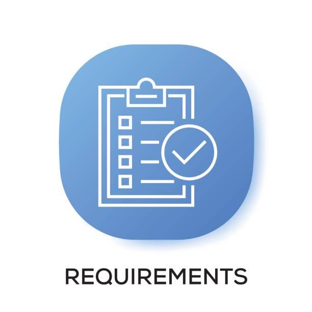 REQUIREMENTS APP ICON vector art illustration