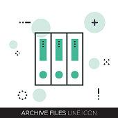 ARCHIVE FILES LINE ICON
