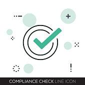 COMPLIANCE CHECK LINE ICON