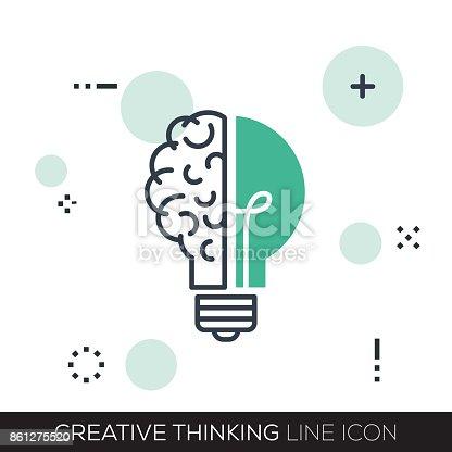 CREATIVE THINKING LINE ICON
