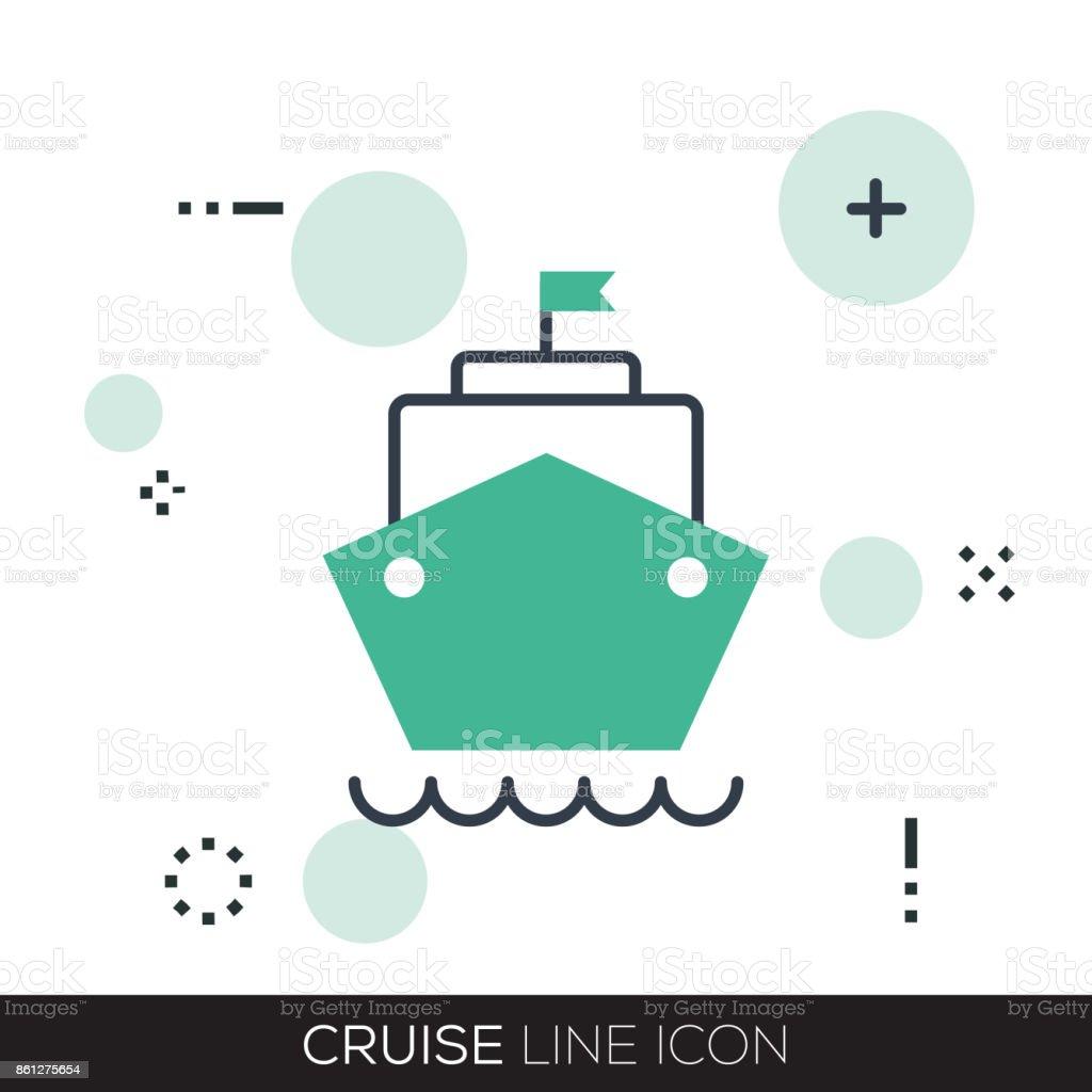 CRUISE LINE ICON vector art illustration